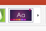 Themes button in Powerpoint 2016
