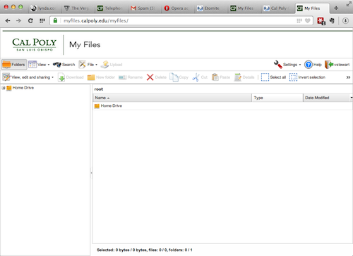 My Files browser window