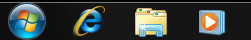 Windows 7 Left Side of Taskbar