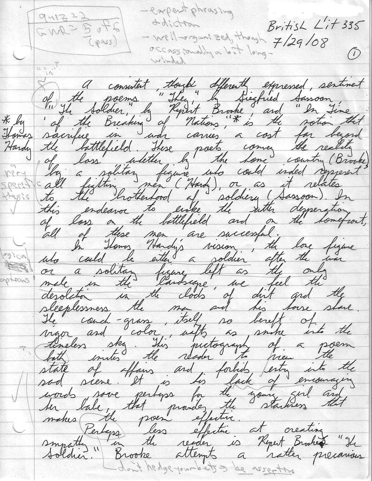 Cal poly gwr sample essay